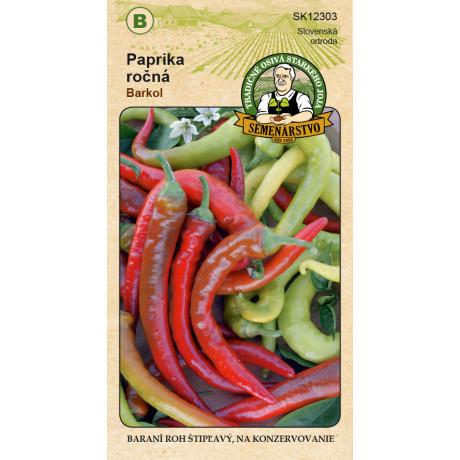 Barkol paprika štipľavá baraní roh osivo 0,7g