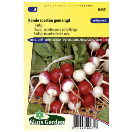 Zmes červených, bielych a polobielych reďkoviek 800 semien