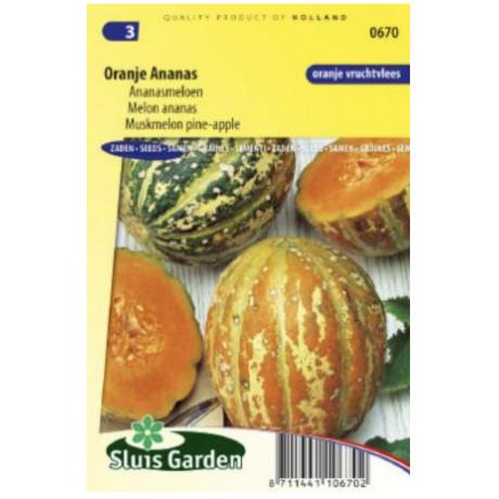 Oranje Ananas melón ananásový 9 semien