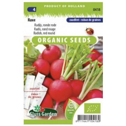 Raxe reďkovka červená okrúhla Bio 300 semien