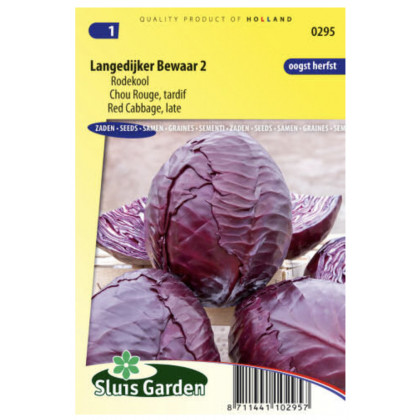 Langedijker Bewaar kapusta červená 275 semien