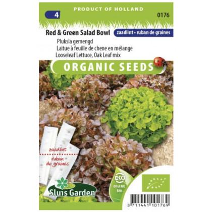 Oak Leaf mix šalát listovy vysevny pásik Bio 5 m