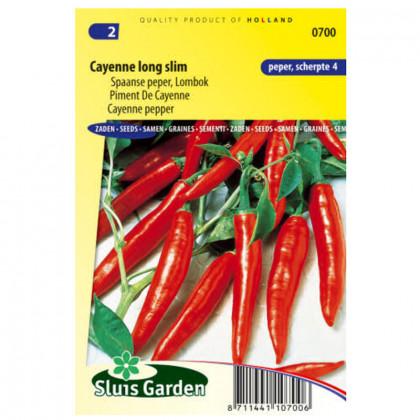 Kajenská paprika dlhá úzka pikantná 40 semien