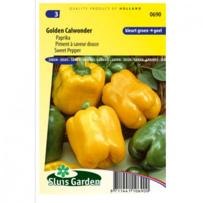 Golden Calwonder paprika sladká 40 semien