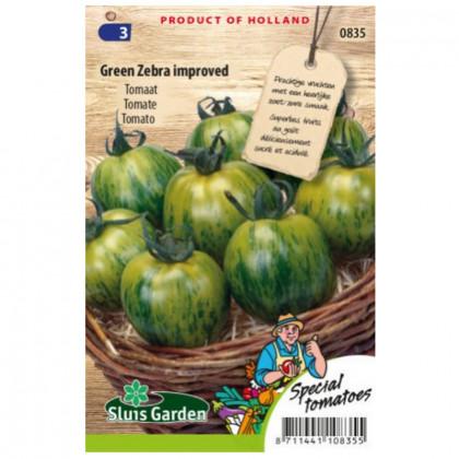 Green Zebra rajčiak kolíkový zelený 45 semien