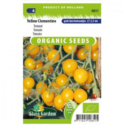 Yellow Clementine Bio rajčiak kolíková 45 semien