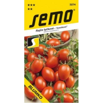 Blumko rajčiak kolíkový slivkový červený